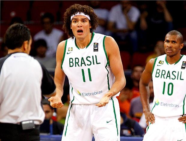 Anderson Varejão, seleção Basquete do Brasil. Mundial (Foto: Reuters)