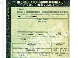 O ator Guilherme Leican dirigia um Hyundai I30 quando retornava para casa na Zona Oeste do Rio. (Foto: Reprodução / Detran RJ)