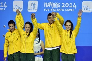 Revezamento 4x100m natação juventude (Foto: Wander Roberto/Inovafoto/COB)
