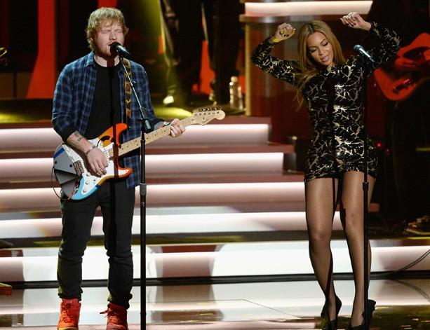 Beyoncé e Ed Sheeran (Foto: Reprodução/Instagram)