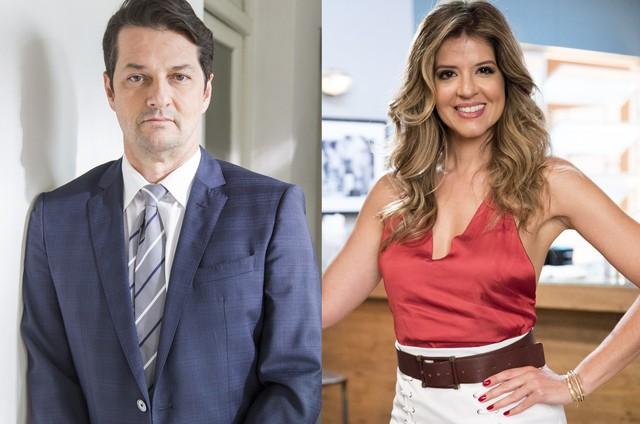 Marcelo Serrado e Mariana Santos (Foto: Reprodução)