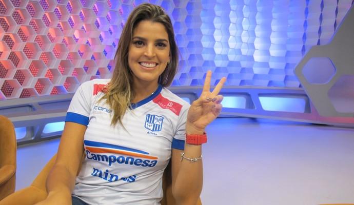 Mari paraiba Corujão do Esporte (Foto: Iris Correia / Globoesporte.com)