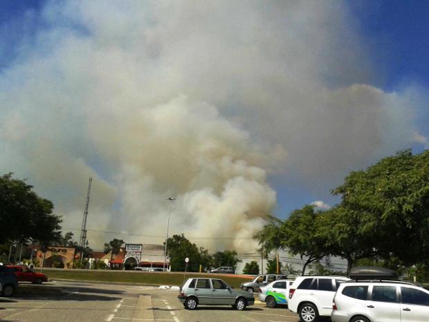 Incêndio (Foto: Maritza Averaldo/TEM Você)
