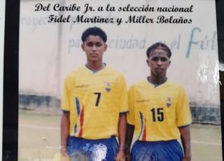 Miller Bolaños Fidel Martínez categorias de base Grêmio Equador (Foto: Arquivo Pessoal)