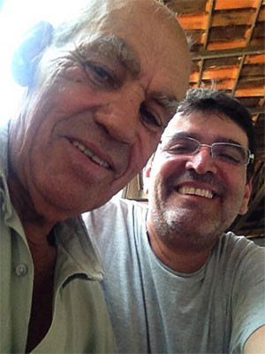 Carlos Henrique encontrou o pai pela primeira vez (Foto: Arquivo Pessoal)