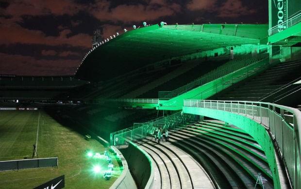 Testes do Green Hell Tecnológico que será realizado na final da Copa do Brasil, entre Coritiba e Palmeiras (Foto: Divulgação / Coritiba)