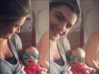 Mirella Santos posta foto divertida da filha com óculos escuros