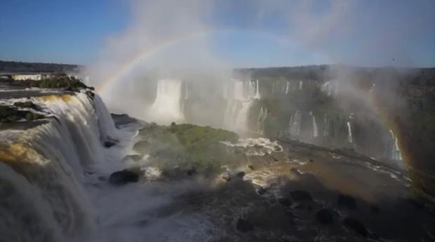 Antes de ser um parque nacional, o local em que se encontram as Cataratas do Iguaçu era parte de uma propriedade privada. (Foto: Reprodução/RPC)