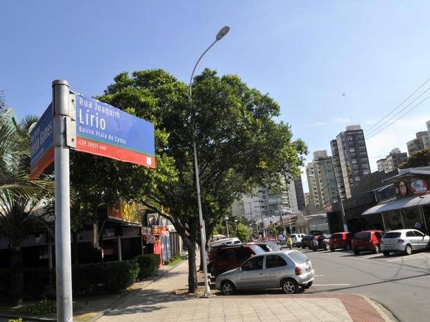Segundo moradores, rua Joaquim Lírio é área de tráfico de drogas (Foto: Carlos Alberto Silva/ A Gazeta)