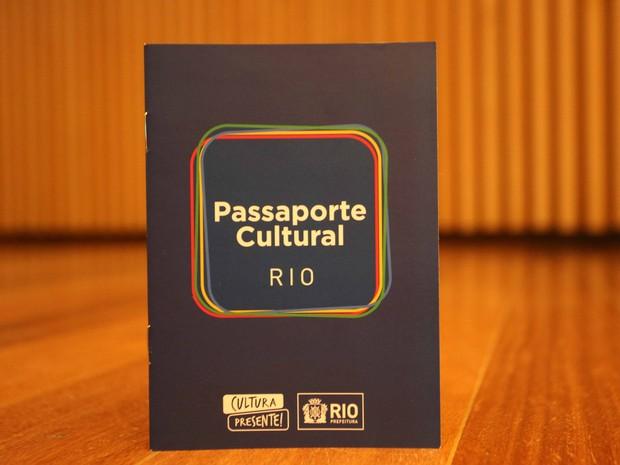 Passaporte Cultural lançado nesta sexta-feira (13) no Rio (Foto: Beth Santos/G1)