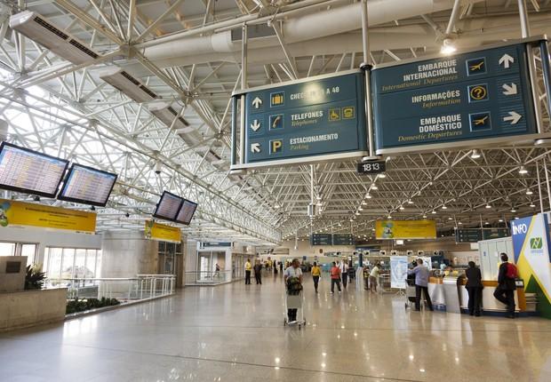 Saguão do Aeroporto Internacional do Galeão, no Rio de Janeiro (Foto: Divulgação)