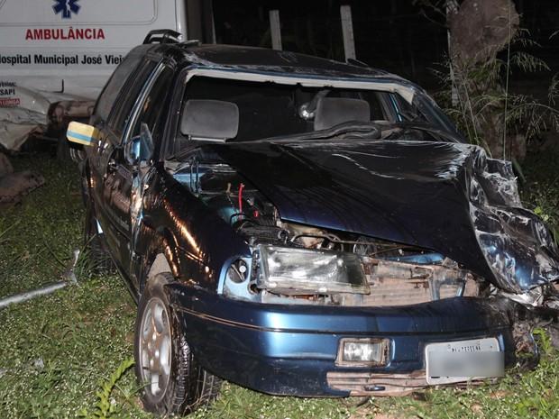 Motorista da ambulância relatou que o outro condutor trafegava na contramão (Foto: Patrícia Andrade/G1)