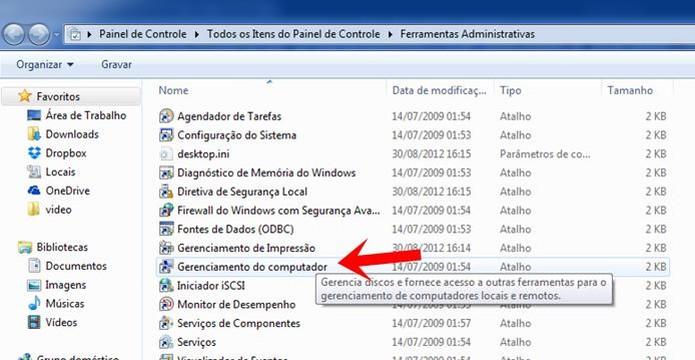 Acesse a opção Gerenciamento do Computador  (Foto: Reprodução/Dario Coutinho)