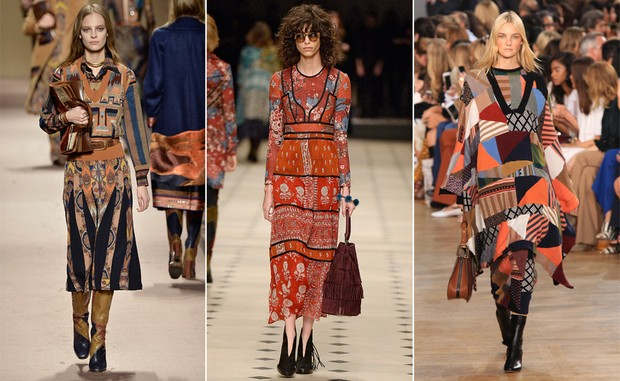 Etro / Burberry / Carol Trentini (Foto: Agência Getty Images)