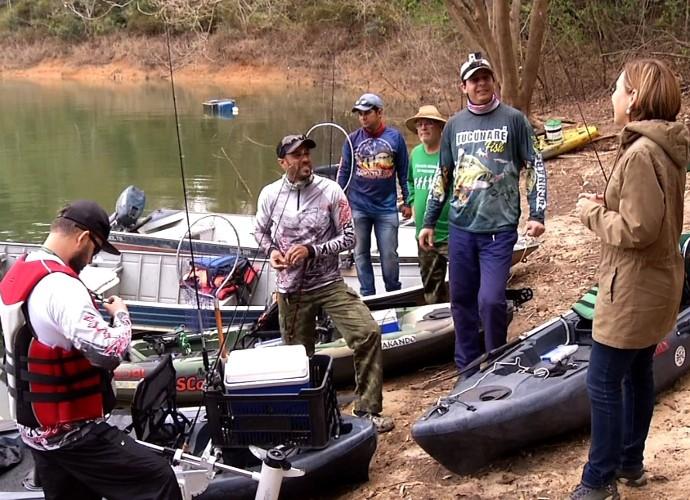 Amigos se reúnem para um dia de pescaria (Foto: Rio Sul Revista)