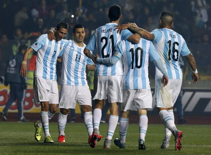 Di Maria gol Argentina x Paraguai Copa América (Foto: Reuters)