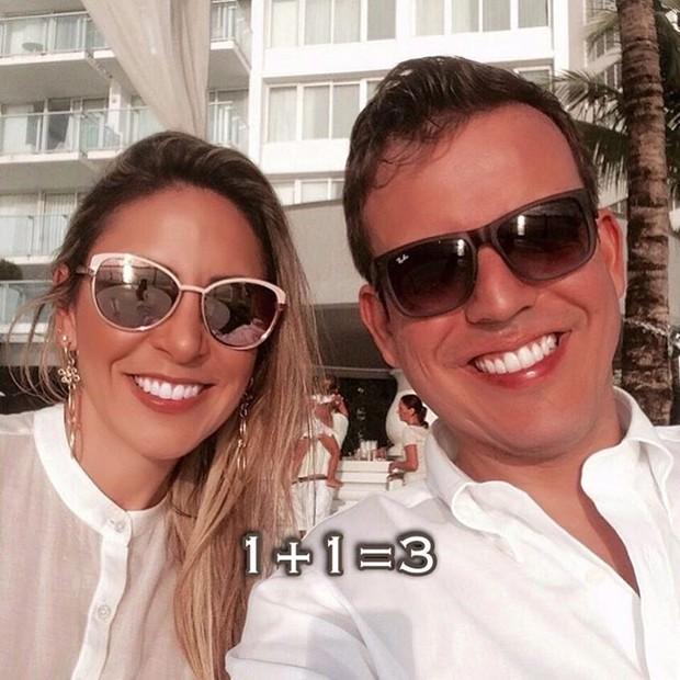 Francieli Medeiros e o marido (Foto: Reprodução / Youtube)