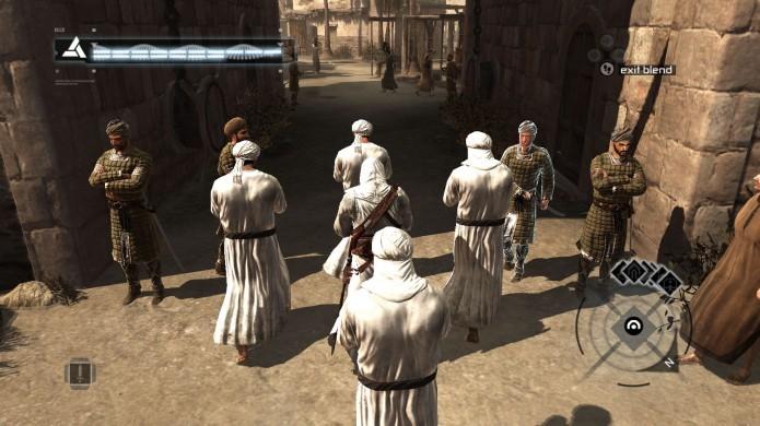 Assassins Creed: utilize sua habilidade de se misturar a multidão para não chamar atenção (Foto: Reprodução/Youtube)