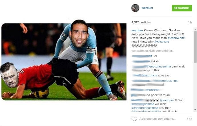 BLOG: Após declarações de McGregor, Werdum responde com foto-montagem