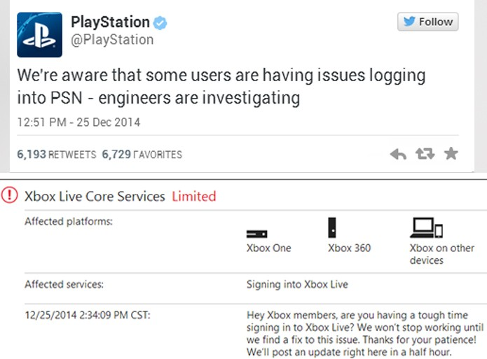 Sony e Microsoft confirmam problemas em suas redes dos consoles (Foto: Reprodução)