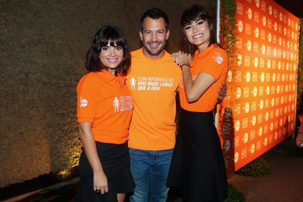 Vanessa Giácomo, Malvino Salvador e Maria Casadevall em evento em São Paulo (Foto: Manuela Scarpa / Foto Rio News)