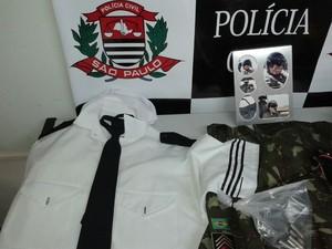 Suspeito afirmava fazer parte do Exército (Foto: Elton Rodrigues/ TV TEM)