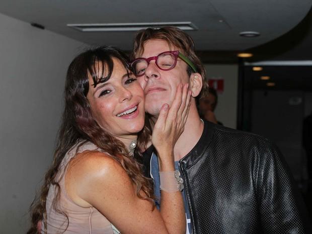 Mylla Christie com o marido, Tutu Sartori, em festa em São Paulo (Foto: Raphael Castello/ Ag. News)