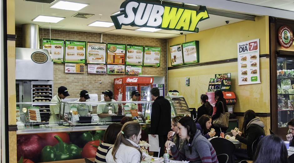 Loja da Subway, marca na segunda posição das maiores redes de franquias (Foto: Divulgação)