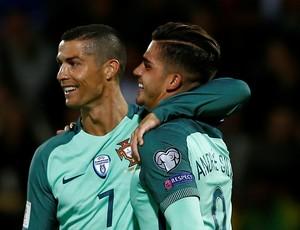 André Silva Cristiano Ronaldo Portugal (Foto: Reuters)