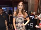 Amanda Gontijo usa vestido de R$ 12 mil em evento em São Paulo