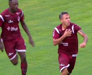 Juventus x Bragantino; Cesinha, gol (Foto: Reprodução SporTV)
