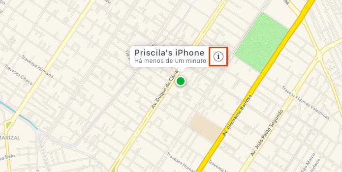 Encontre seu iPhone no mapa (Foto: Reprodução/Paulo Alves)