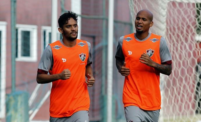 Gustavo Scarpa e Wellingron Silva, Fluminense (Foto: Nelson Perez/Fluminense FC)