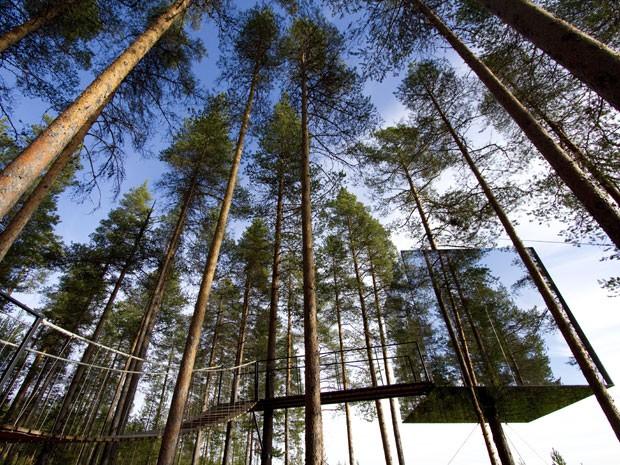 Casa na árvore do Treehotel, na Suécia (Foto: Peter Lundstrom, WDO – www.treehotel.se)