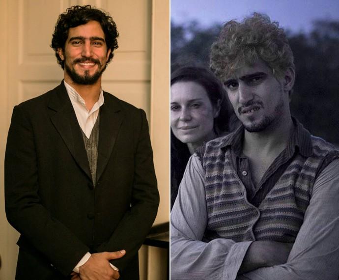 Renato já descoloriu os cabelos e abriu espaços entre os dentes para interpretar personagem no cinema (Foto: Inácio Moraes/Gshow-Marcio Nunes/Divulgação)