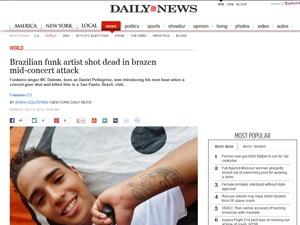 Site do tabloide 'New York Daily News' mostra MC Daleste (Foto: Reprodução / Site Nydailynews.com)