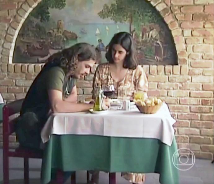 À Primeira Vista foi trilha sonora do casal Marco Mezenga (Fábio Assunção) e Liliana (Mariana Lima) em O Rei do Gado (1996) (Foto: TV Globo)