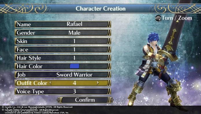 Crie seu personagem e escolha sua classe em Ragnarok Odyssey ACE (Foto: Reprodução)