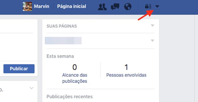 Botão de configurações de um perfil do Facebook (Foto: Reprodução/Marvin Costa) (Foto: Botão de configurações de um perfil do Facebook (Foto: Reprodução/Marvin Costa))