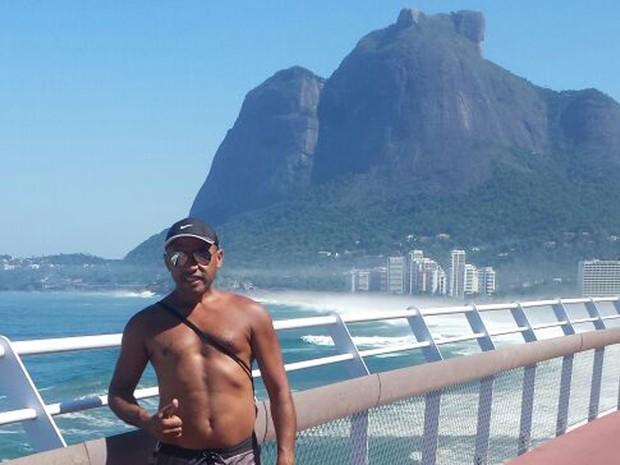 Silvano Cândido em foto na ciclovia Tim Maia (Foto: Reprodução/Arquivo Pessoal)