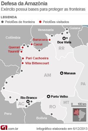 mapa pelotões (Foto: arte g1)