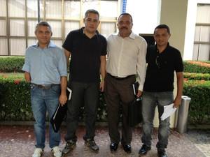 Representantes do movimento Pró-BR-010 estiveram em Brasília para pedir apoio (Foto: Jesana de Jesus/G1)