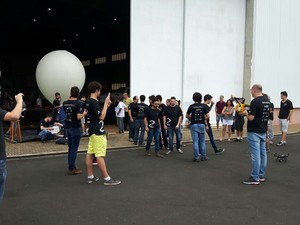 Balão USP São Carlos (Foto: Thayná Cunha/G1)