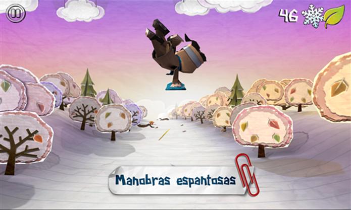 Shred It é um runner para Windows Phone onde o jogador pratica snowboard (Foto: Divulgação/Windows Phone Store)