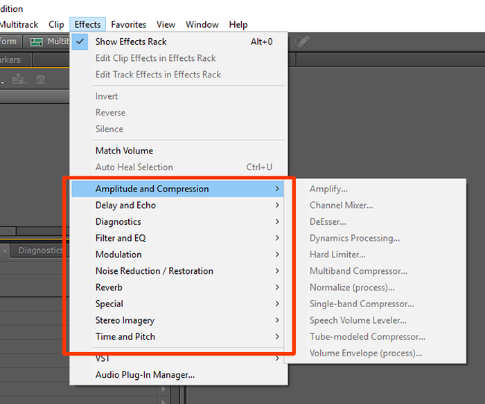 O menu de efeitos possui diversas opções que são aplicadas automaticamente (Foto: Reprodução/Gabriel Galli)