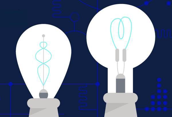 Ilustração Lâmpadas inventadas por Thomas Edison, fundador da GE (Foto: GE)