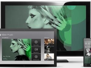 Xbox Music visto em várias plataformas (Foto: Reprodução)