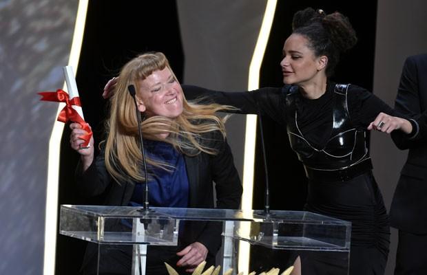 """A diretora Andrea Arnold recebeu o prêmio do Júri por """"American Honey"""" na 69ª edição do Festival de Cannes. (Foto: Alberto Pizzoli/France Presse)"""