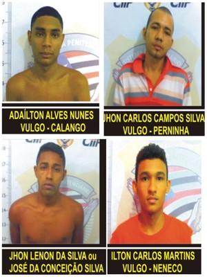 Diques Denúncia divulga fotos dos presos que foram resgatados de Pedrinhas (Foto: Reprodução G1)