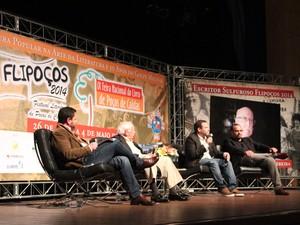Autores portugueses participaram de debate no festival (Foto: Jéssica Balbino/ G1)